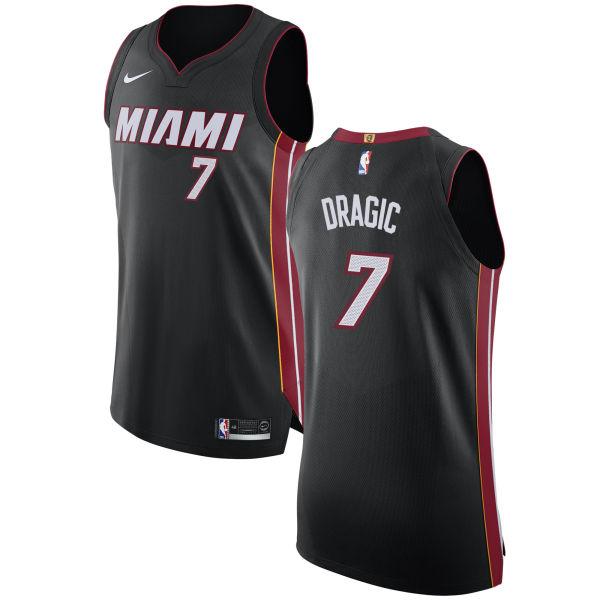 Nike Heat #7 Goran Dragic Black NBA Authentic Icon Edition Jersey