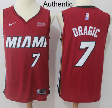 Nike Heat #7 Goran Dragic Red NBA Authentic Statement Edition Jersey