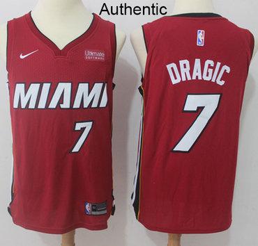 Nike Heat #7 Goran Dragic Red NBA Authentic Statement Edition Jersey