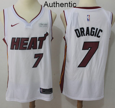 Nike Heat #7 Goran Dragic White NBA Authentic Association Edition Jersey