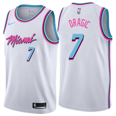 Nike Heat #7 Goran Dragic White NBA Swingman City Edition Jersey