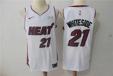 Nike Heat 21 Hassan Whiteside White Nike Authentic Jersey