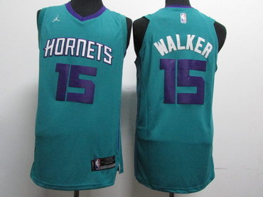 Nike Hornets 15 Kemba Walker Teal Nike Authentic Jersey