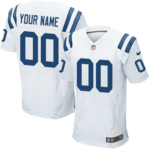 Nike Indianapolis Colts Elite White Road Men's Jersey NFL Customized jerseys