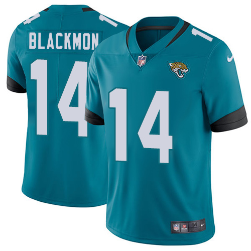 Nike Jaguars #14 Justin Blackmon Teal Green Alternate Men's Stitched NFL Vapor Untouchable Limited Jersey