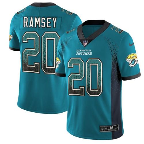 Nike Jaguars #20 Jalen Ramsey Teal Green Alternate Men's Stitched NFL Limited Rush Drift Fashion Jersey