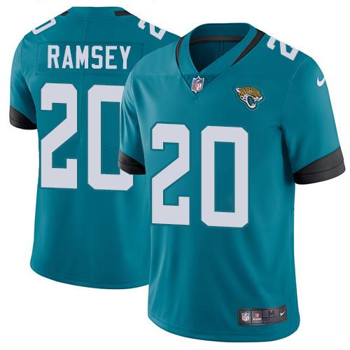 Nike Jaguars #20 Jalen Ramsey Teal Green Alternate Men's Stitched NFL Vapor Untouchable Limited Jersey
