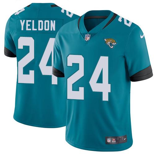 Nike Jaguars #24 T.J. Yeldon Teal Green Alternate Men's Stitched NFL Vapor Untouchable Limited Jersey