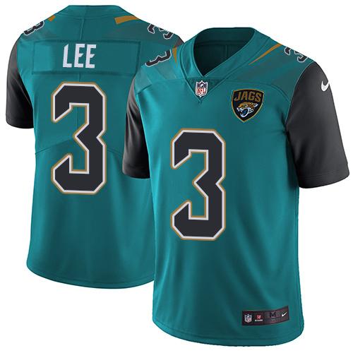 Nike Jaguars #3 Tanner Lee Teal Green Team Color Men's Stitched NFL Vapor Untouchable Limited Jersey