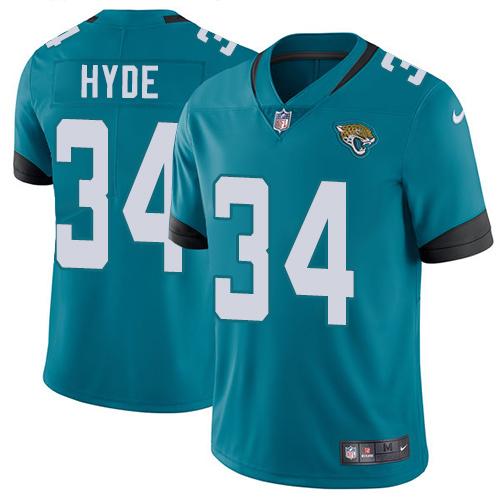 Nike Jaguars #34 Carlos Hyde Teal Green Alternate Men's Stitched NFL Vapor Untouchable Limited Jersey
