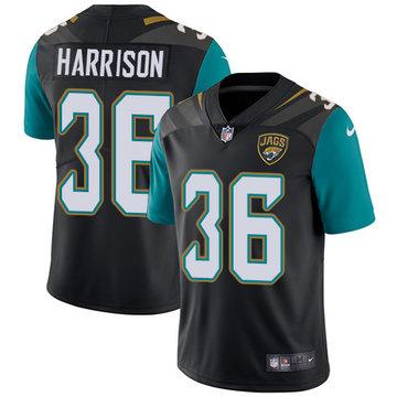 Nike Jaguars #36 Ronnie Harrison Black Alternate Men's Stitched NFL Vapor Untouchable Limited Jersey