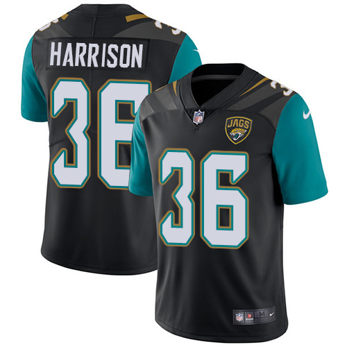 Nike Jaguars #36 Ronnie Harrison Black Team Color Men's Stitched NFL Vapor Untouchable Limited Jersey