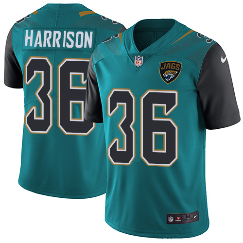 Nike Jaguars #36 Ronnie Harrison Teal Green Alternate Men's Stitched NFL Vapor Untouchable Limited Jersey