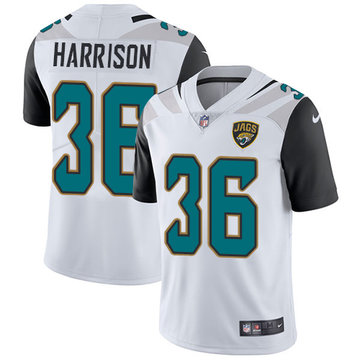 Nike Jaguars #36 Ronnie Harrison White Men's Stitched NFL Vapor Untouchable Limited Jersey