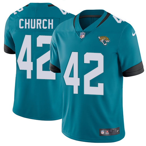 Nike Jaguars #42 Barry Church Teal Green Alternate Men's Stitched NFL Vapor Untouchable Limited Jersey