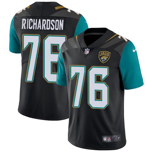 Nike Jaguars #76 Will Richardson Black Team Color Men's Stitched NFL Vapor Untouchable Limited Jersey