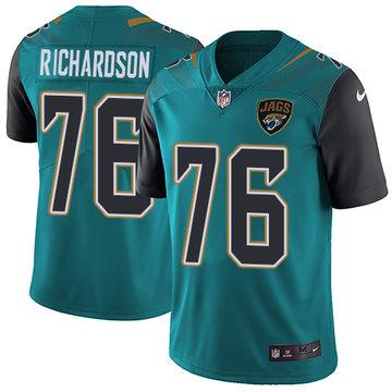 Nike Jaguars #76 Will Richardson Teal Green Team Color Men's Stitched NFL Vapor Untouchable Limited Jersey