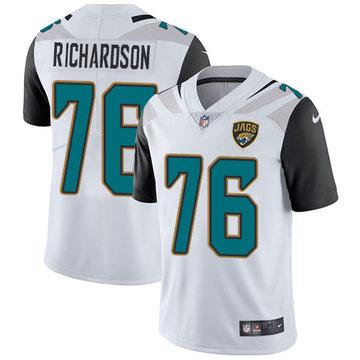 Nike Jaguars #76 Will Richardson White Men's Stitched NFL Vapor Untouchable Limited Jersey