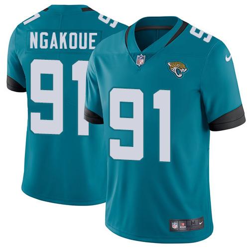 Nike Jaguars #91 Yannick Ngakoue Teal Green Alternate Men's Stitched NFL Vapor Untouchable Limited Jersey