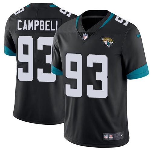 Nike Jaguars #93 Calais Campbell Black Team Color Men's Stitched NFL Vapor Untouchable Limited Jersey