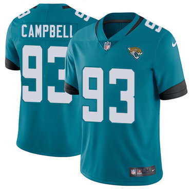 Nike Jaguars #93 Calais Campbell Teal Green Team Color Youth Stitched NFL Vapor Untouchable Limited Jersey