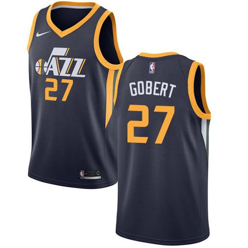 Nike Jazz #27 Rudy Gobert Navy NBA Swingman Icon Edition Jersey