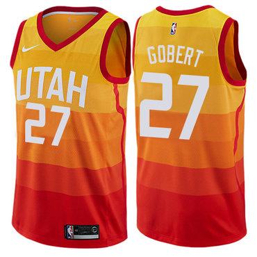 Nike Jazz #27 Rudy Gobert Orange NBA Swingman City Edition Jersey