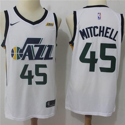 Nike Jazz #45 Donovan Mitchell White NBA Swingman Association Edition Jersey