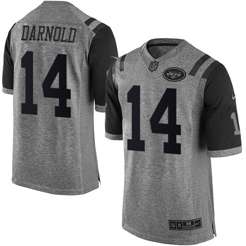 Nike Jets #14 Sam Darnold Gray Men's Stitched NFL Limited Gridiron Gray Jersey
