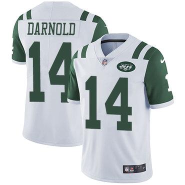 Nike Jets #14 Sam Darnold White Youth Stitched NFL Vapor Untouchable Limited Jersey