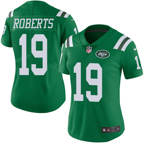 Nike Jets #19 Andre Roberts Green Women's Stitched NFL Limited Rush Jersey