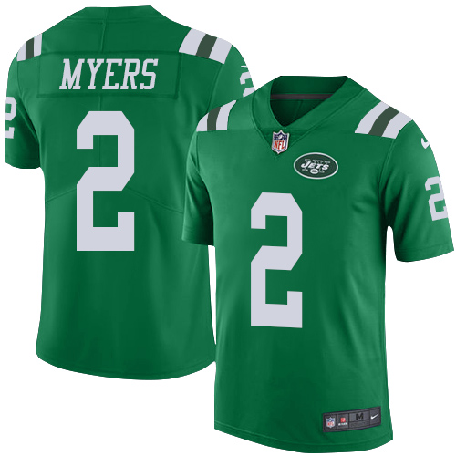 Nike Jets #2 Jason Myers Green Men's Stitched NFL Limited Rush Jersey