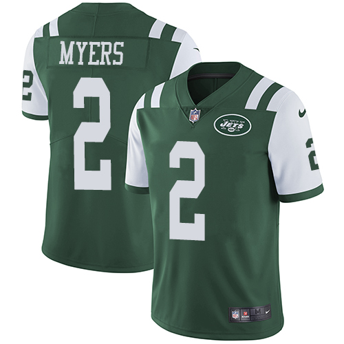 Nike Jets #2 Jason Myers Green Team Color Men's Stitched NFL Vapor Untouchable Limited Jersey