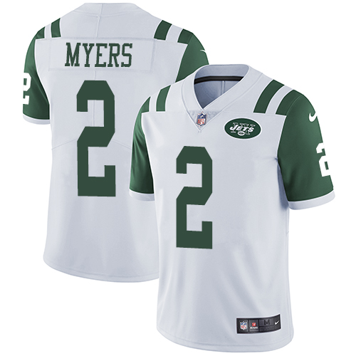 Nike Jets #2 Jason Myers White Men's Stitched NFL Vapor Untouchable Limited Jersey