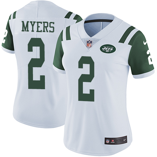 Nike Jets #2 Jason Myers White Women's Stitched NFL Vapor Untouchable Limited Jersey