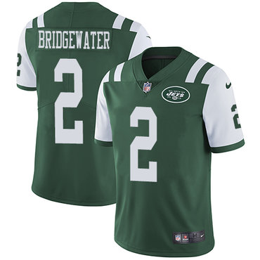 Nike Jets #2 Teddy Bridgewater Green Team Color Youth Stitched NFL Vapor Untouchable Limited Jersey