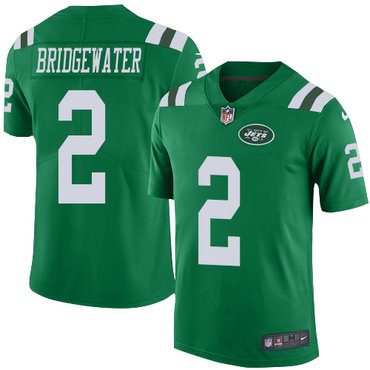 Nike Jets #2 Teddy Bridgewater Green Youth Stitched NFL Limited Rush Jersey