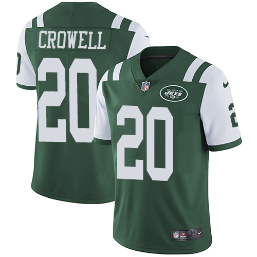 Nike Jets #20 Isaiah Crowell Green Team Color Men's Stitched NFL Vapor Untouchable Limited Jersey