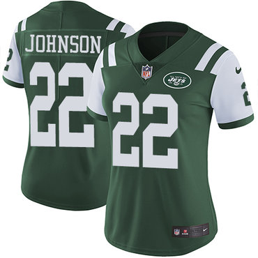 Nike Jets #22 Trumaine Johnson Green Team Color Women's Stitched NFL Vapor Untouchable Limited Jersey