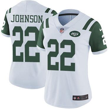 Nike Jets #22 Trumaine Johnson White Women's Stitched NFL Vapor Untouchable Limited Jersey