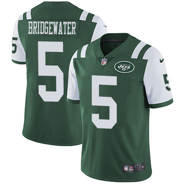 Nike Jets #5 Teddy Bridgewater Green Team Color Men's Stitched NFL Vapor Untouchable Limited Jersey