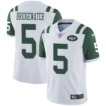 Nike Jets #5 Teddy Bridgewater White Men's Stitched NFL Vapor Untouchable Limited Jersey