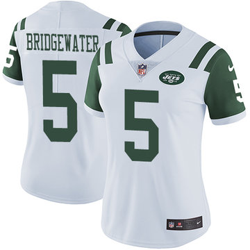 Nike Jets #5 Teddy Bridgewater White Women's Stitched NFL Vapor Untouchable Limited Jersey