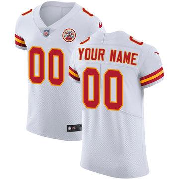Nike Kansas City Chiefs  Elite White Road Men's Jersey NFL Vapor Untouchable Customized jerseys