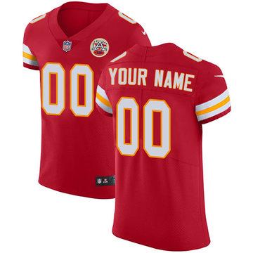 Nike Kansas City Chiefs Elite Red Home Men's Jersey NFL Vapor Untouchable Customized jerseys
