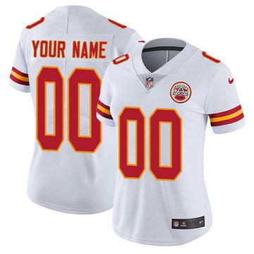 Nike Kansas City Chiefs Elite White Road Women's Jersey NFL  Vapor Untouchable Customized jerseys