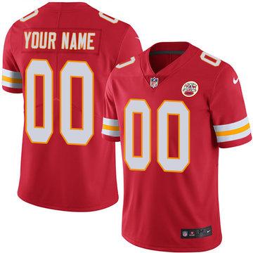 Nike Kansas City Chiefs Limited Red Home Men's Jersey NFL  Vapor Untouchable Customized jerseys