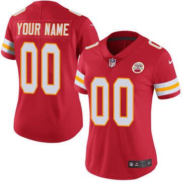 Nike Kansas City Chiefs Limited Red Home Women's Jersey NFL Vapor Untouchable Customized jerseys