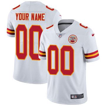 Nike Kansas City Chiefs Limited White Road Men's Jersey NFL  Vapor Untouchable Customized jerseys