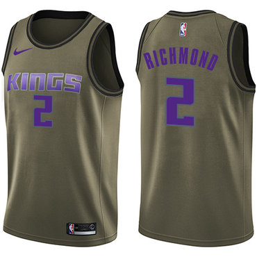 Nike Kings #2 Mitch Richmond Green Salute to Service NBA Swingman Jersey